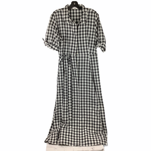 Primary Photo - BRAND: CALVIN KLEIN STYLE: DRESS LONG SHORT SLEEVE COLOR: CHECKED SIZE: XL SKU: 160-160197-12139