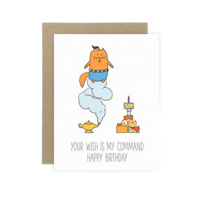 Genie Cat - Birthday Card