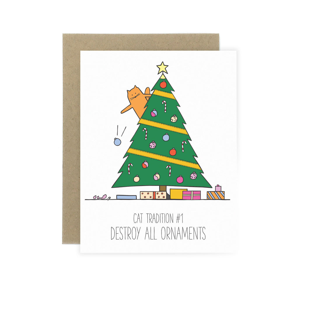 Destroy All Ornaments - Holiday Card