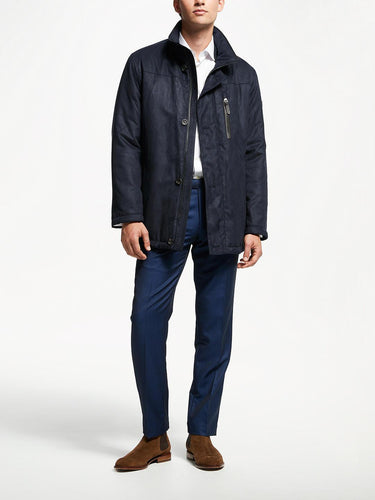 Bugatti - Microma Navy Quilted Coat - Tector Menswear
