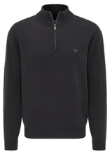 Load image into Gallery viewer, Fynch-Hatton - Premium Merino/Cashmere, 1/2 Zip, Charcoal Grey