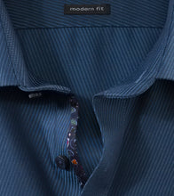 Load image into Gallery viewer, OLYMP -  Navy Self Pattern, Modern Fit Shirt