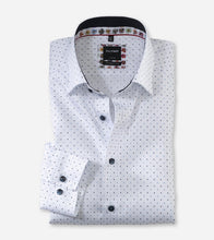 Load image into Gallery viewer, OLYMP - Luxor Modern Fit, Under Button-Down, White with Print