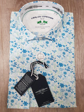Load image into Gallery viewer, Carlos Cordoba - Green and Blue Floral Shirt