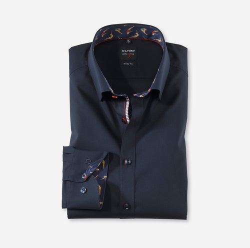 OLYMP Level Five, Body Fit, Under Button-down, Cobalt - Tector Menswear