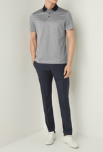 Load image into Gallery viewer, Strellson - Mercerised Cotton Grey/Navy Polo