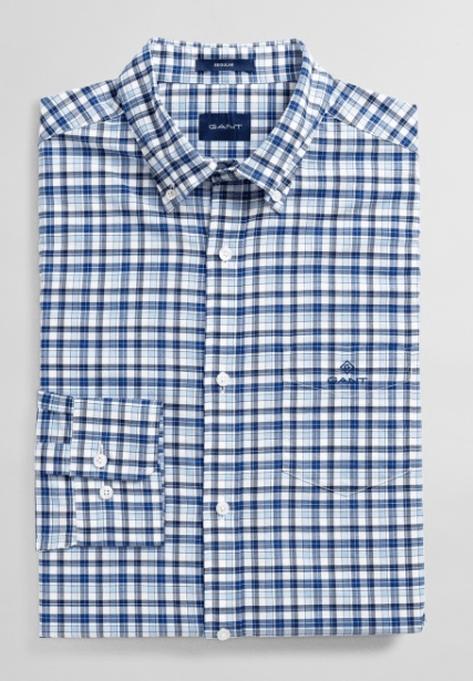 Gant - Oxford Micro Madras, Blue Bell