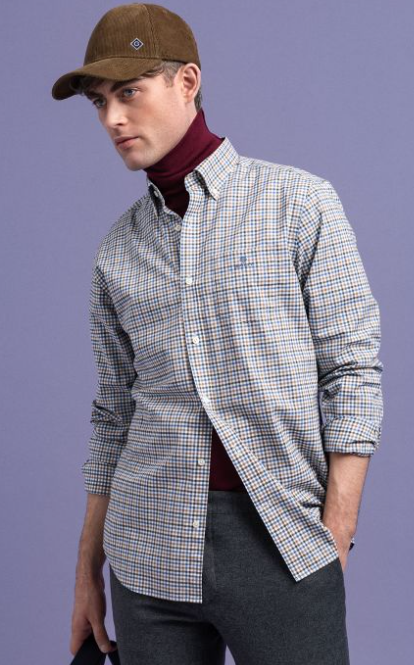 GANT - 3 Colour Gingham Regurlar Shirt, 466 ( XL and XXL Only)