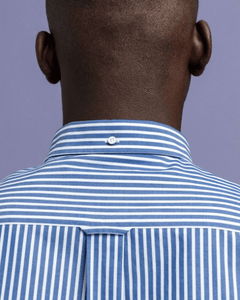 Gant - Broadcloth Stripe, College Blue - Tector Menswear