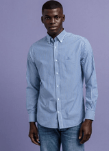 Load image into Gallery viewer, Gant - Broadcloth Stripe, College Blue - Tector Menswear