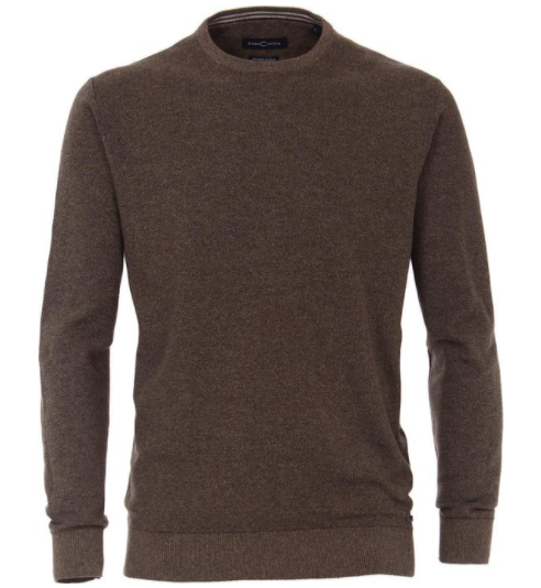 Casa Moda - Cotton Crew Neck, Brown (L & XXL Only)