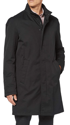 Bugatti - Over Coat, Black - Tector Menswear