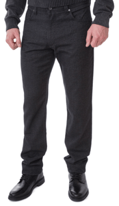 Bugatti - 5 Pocket Constant Colour Stretch Grey Jeans - Tector Menswear