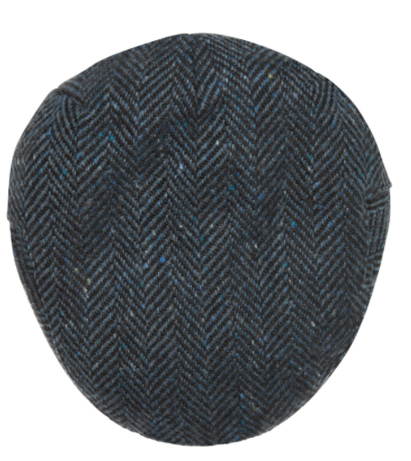Magee - Blue Herringbone Tweed Cap