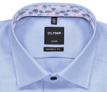 Load image into Gallery viewer, Olymp - Luxor, Modern Fit, Blue shirt with floral inset