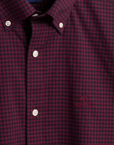 GANT - Gingham Shirt Port Red - Tector Menswear