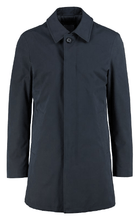 Load image into Gallery viewer, Bugatti - Navy Overcoat with Peaked Collar - Tector Menswear