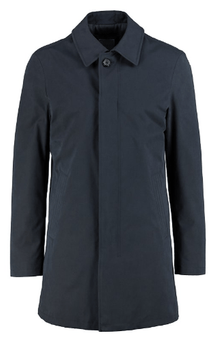 Bugatti - Navy Overcoat with Peaked Collar - Tector Menswear
