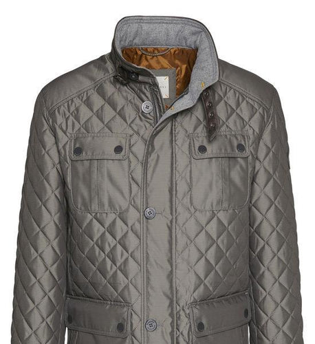 Bugatti - Quilted, Micro Fibre Jacket, Heathered Grey - Tector Menswear
