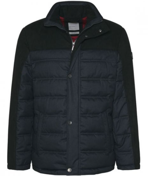 Bugatti - Tech Wool Quilted Jacket, Navy