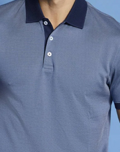 Load image into Gallery viewer, Bugatti - Navy Print Polo