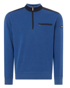 Bugatti - Half Zip Sweatshirt In Blue
