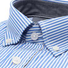 Load image into Gallery viewer, Casa Moda -  Classic Blue and White Stripe, Short Sleeve Shirt (M Only)