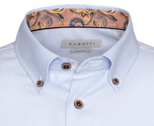 Load image into Gallery viewer, Bugatti - Casual Blue Shirt with floral trim - Tector Menswear