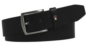 Tommy Hilfiger - Leather Belt, Black - Tector Menswear