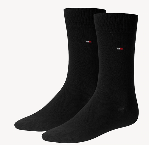 Tommy Hilfiger - 2 Pack Black Socks - Tector Menswear