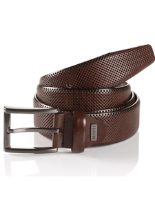 Monti - Brown Embossed Leather Belt