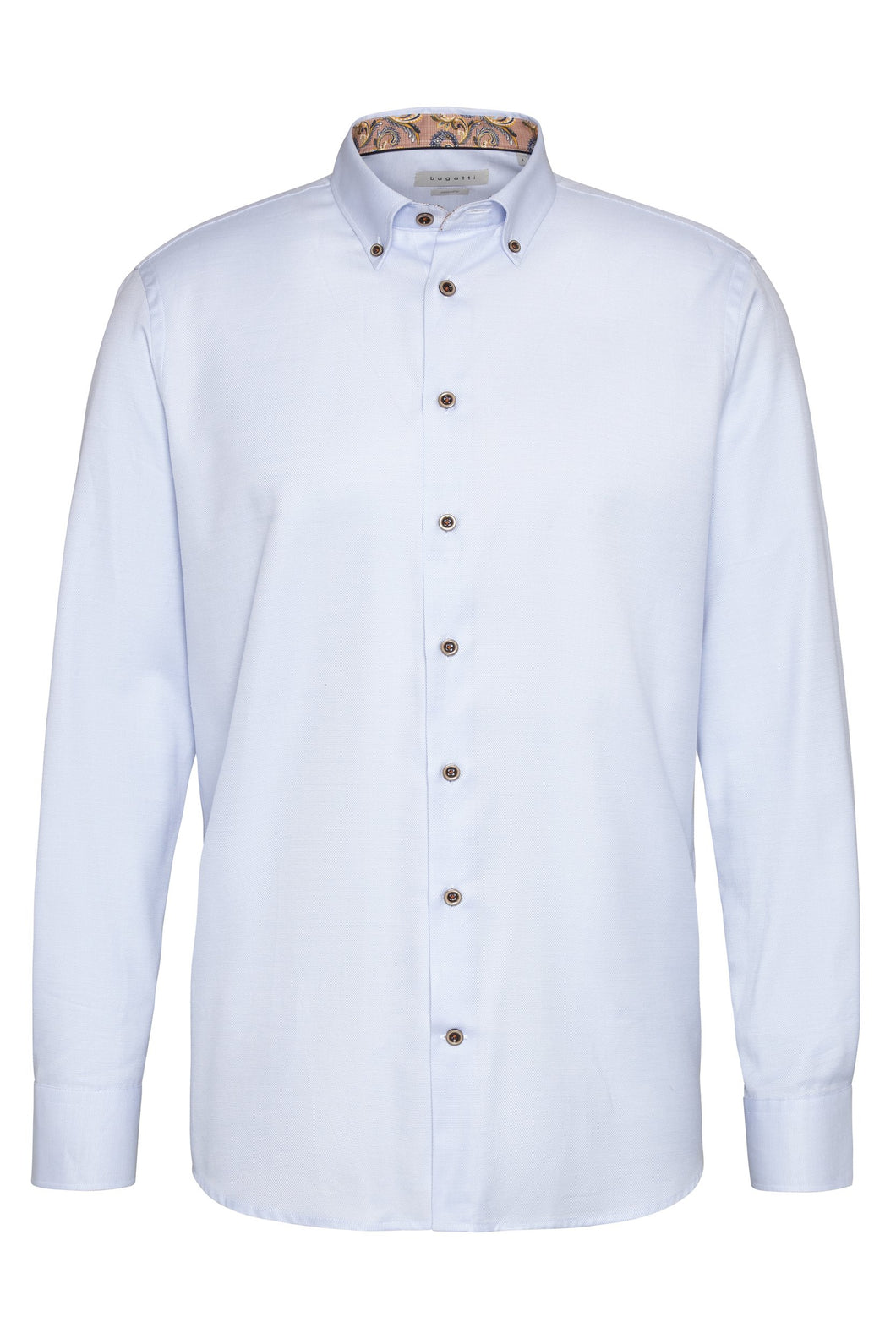Bugatti - Casual Blue Shirt with floral trim - Tector Menswear