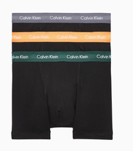 Load image into Gallery viewer, Calvin Klein - 3 Pack Boxers in Black with multi color waist bands