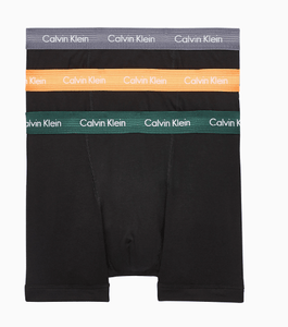 Calvin Klein - 3 Pack Boxers in Black with multi color waist bands