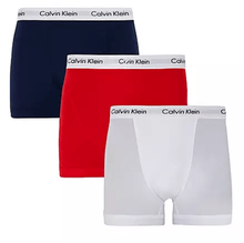 Load image into Gallery viewer, Calvin Klein - 3 Pack Boxers in White, Red and Navy (S only) - Tector Menswear