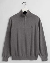 Load image into Gallery viewer, Gant - Classic Cotton Half Zip, Grey Melange