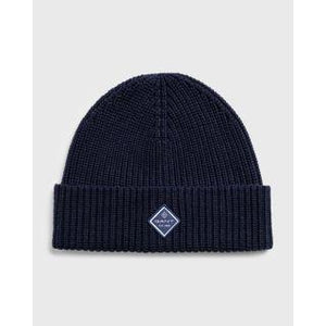 GANT - Cotton Rib Knit Hat, Marine