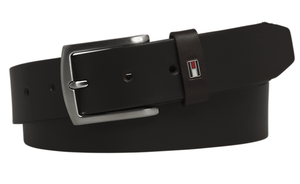 Tommy Hilfiger - Leather Belt, Dark brown