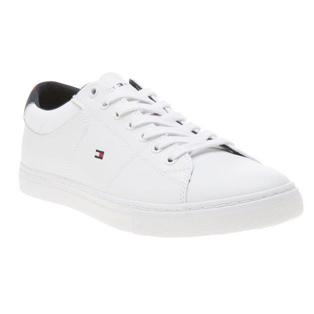 Tommy Hilfiger - Essential Leather Collar Sneakers White - Tector Menswear