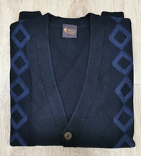 Load image into Gallery viewer, Gabicci - Navy Blue DIamond Cardigan