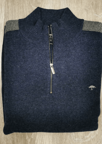 Fynch-Hatton - Troyer Zip, Elbow Patches, Night - Tector Menswear