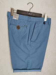 Bugatti - Bermuda Shorts Blue With Micro Dot Print