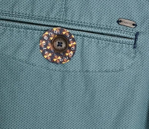 Bugatti - Bermuda Shorts Aqua With Micro Dot Print