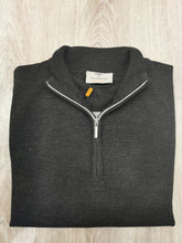 Load image into Gallery viewer, Fynch-Hatton - Merino Wool 1/2 Zip, Grey - Tector Menswear