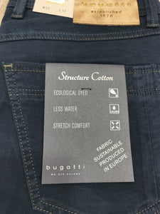 Bugatti - Structure Cotton in Navy - Tector Menswear