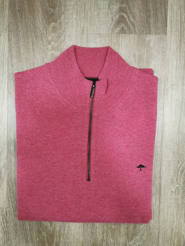 Fynch-Hatton - Troyer Zip, Elbow Patches, Dragonfruit - Tector Menswear