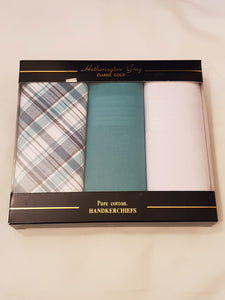 Men's Cotton Handkerchiefs Pack of 3