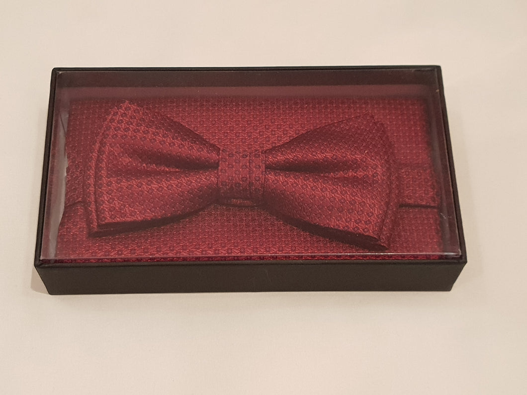 Wine Bow Tie & Pocket Square Set