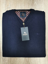 Load image into Gallery viewer, Magee - Lunnaigh, Lambswool V-Knit, Navy