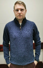 Load image into Gallery viewer, Magee - Mullans, 1/2 Zip, Lambwool, Blue (S, XL & XXXL Only)